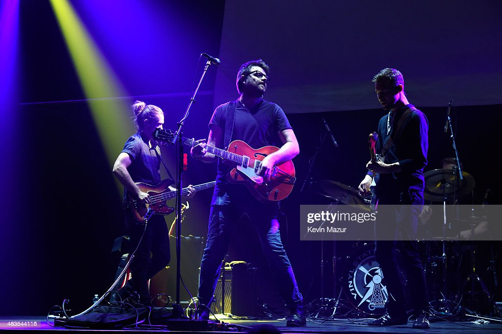Vinyl Station performs onstage at Beacon Theatre on August 8, 2015 in New York City.
