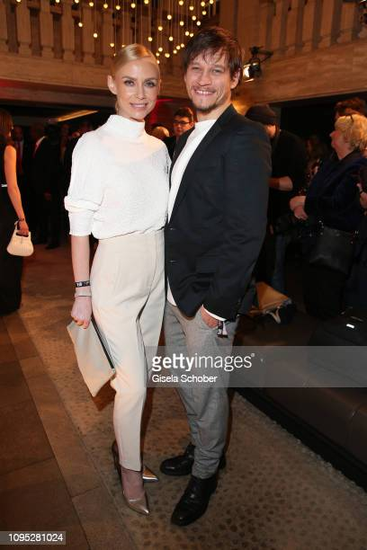 Vinzenz Kiefer and his wife Masha Tokareva attend the Berlinale Opening Night by GALA UFA Fiction at Das Stue on February 07 2019 in Berlin Germany