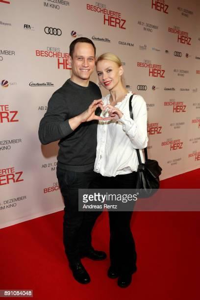 Vinzenz Kiefer and his wife Masha Tokareva attend the 'Dieses bescheuerte Herz' premiere on December 12 2017 in Berlin Germany