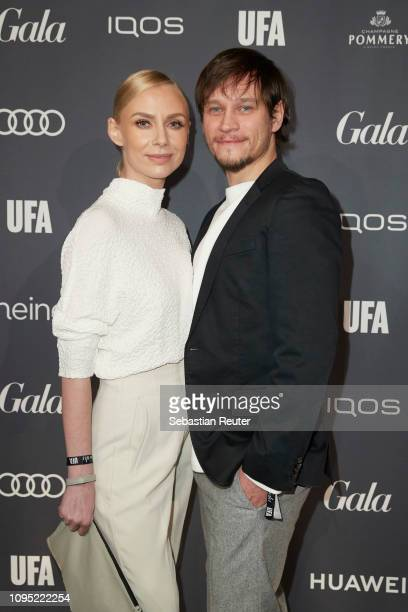 Vinzenz Kiefer and his wife Masha Tokareva attends the Berlin Opening Night by GALA UFA Fiction at Das Stue on February 7 2019 in Berlin Germany