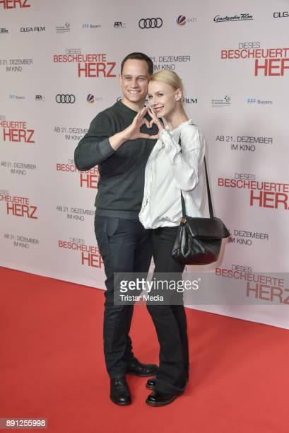 Vinzenz Kiefer and his wife Masha Tokareva during the 'Dieses bescheuerte Herz' premiere on December 12 2017 in Berlin Germany