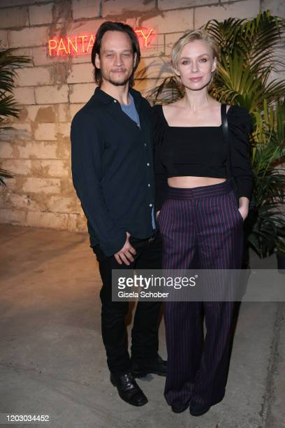 Vinzenz Kiefer and his wife Masha Tokareva during the Pantaflix Party as part of the 70th Berlinale International Film Festival at Neuzeit Ost on...