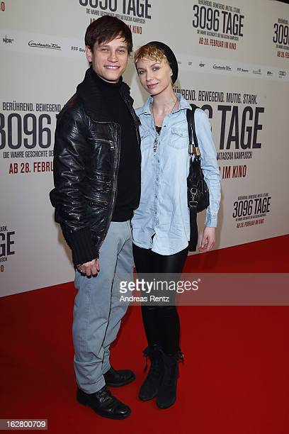 Vinzenz Kiefer and Masha Tokareva attend the '3096 Tage' Berlin Premiere at CineStar on February 27, 2013 in Berlin, Germany.