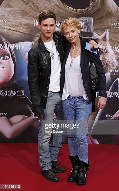 Vinzenz Kiefer and Masha Tokareva attend the 'Hotel Transsilvanien' Germany premiere at Cinemaxx on October 21 2012 in Berlin Germany