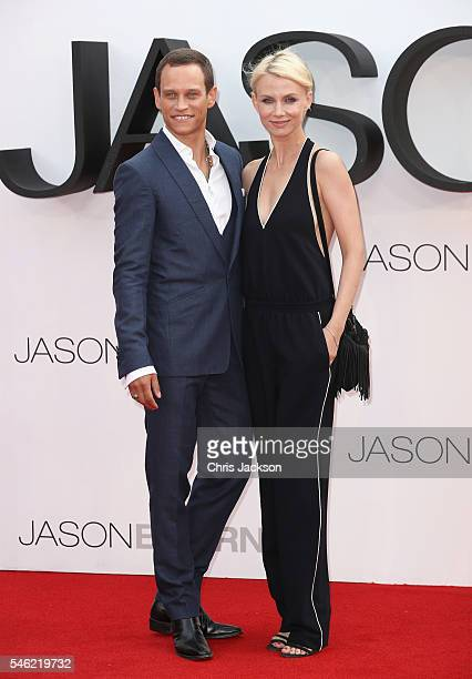 Vinzenz Kiefer and Masha Tokareva attend the Jason Bourne European premiere at the Odeon Leicester Square on July 11 2016 in London England