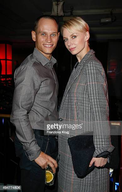 Vinzenz Kiefer and Masha Tokareva attend the party at the Felix club following the German premiere of the new James Bond movie 'Spectre' on October...
