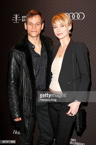 Vinzenz Kiefer and Masha Tokareva attend the 'Studio Babelsberg Berlinale Party Audi At The 64th Berlinale International Film Festival at Borchardt...
