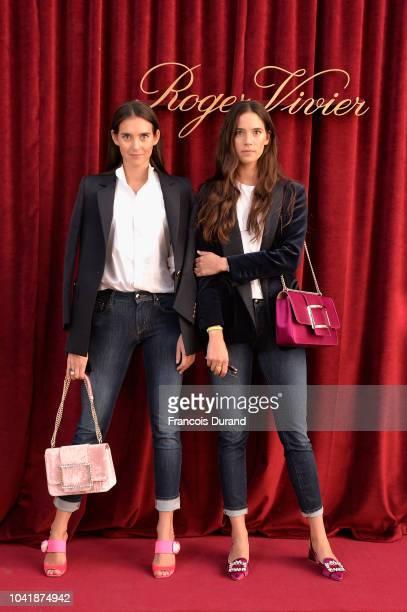 Viola and Vera Arivabene attend the Roger Vivier Presentation Spring/Summer 2019 during Paris Fashion Week on September 27 2018 in Paris France