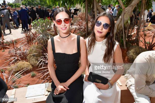 Viola and Vera Arrivabene attend the Christian Dior Haute Couture Fall/Winter 20172018 show as part of Haute Couture Paris Fashion Week on July 3...