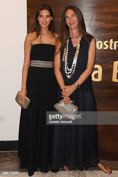 Viola Arrivabene and Bianca Arrivabene attend the opening ceremony during the 73rd Venice Film Festival at Sala Grande on August 31 2016 in Venice...