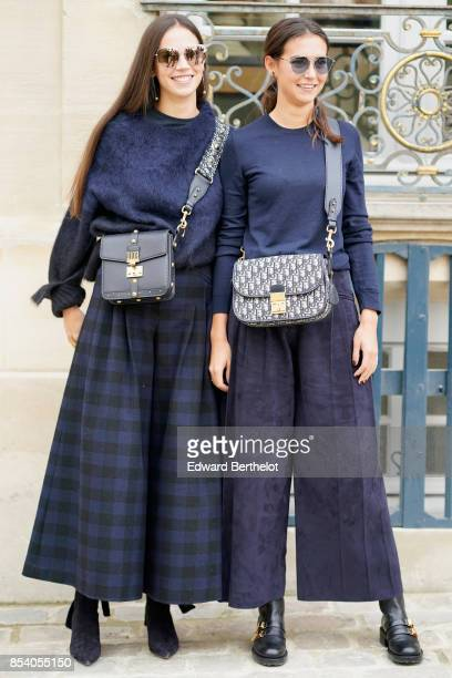 Viola Arrivabene and Vera Arrivabene attend the Christian Dior show as part of the Paris Fashion Week Womenswear Spring/Summer 2018 on September 26...