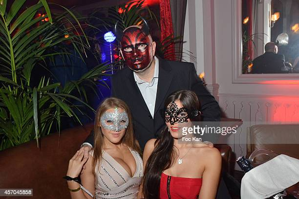 Viola Bailey's and Cecilia de Lys, Pierre Woodman attend the Marc Dorcel 35th Anniversary Masked Ball at the Chalet des Iles on October 10, 2014 in...