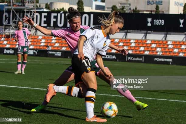 Viola Caligaris of Valencia CF in action during the Spanish League Primera Iberdrola women football match played between Valencia CF Femenino and...