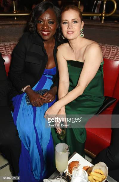Viola Davis and Amy Adams attend The Weinstein Company Entertainment Film Distributors Studiocanal 2017 BAFTA After Party in partnership with Ben...