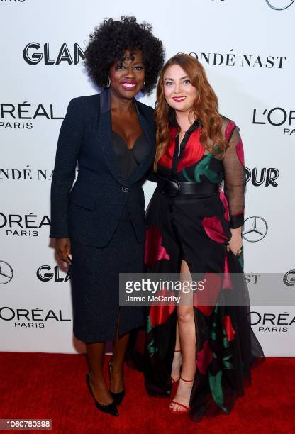 Viola Davis and Glamour EditorinChief Samantha Barry attend the 2018 Glamour Women Of The Year Awards Women Rise on November 12 2018 in New York City