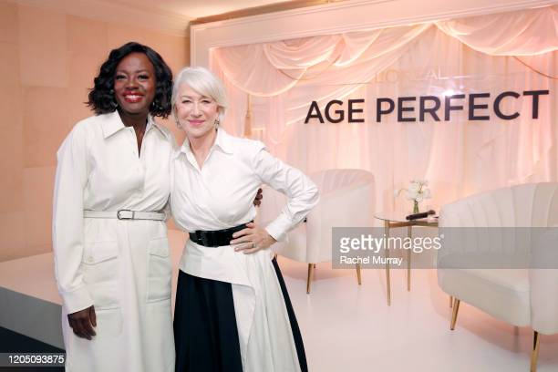 Viola Davis and Helen Mirren join LOréal Paris to celebrate the launch of Age Perfect Cosmetics on March 03, 2020 in Beverly Hills, California.