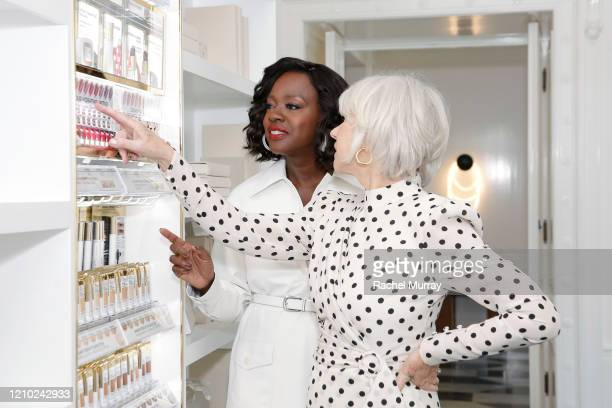 Viola Davis and Helen Mirren join L'Oréal Paris to celebrate the launch of Age Perfect Cosmetics on March 03, 2020 in Beverly Hills, California.