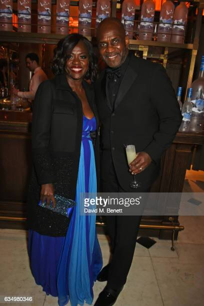 Viola Davis and Julius Tennon attend The Weinstein Company Entertainment Film Distributors Studiocanal 2017 BAFTA After Party in partnership with Ben...
