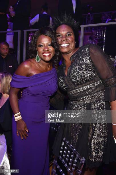 Viola Davis and Leslie Jones attend 2017 Time 100 Gala at Jazz at Lincoln Center on April 25 2017 in New York City