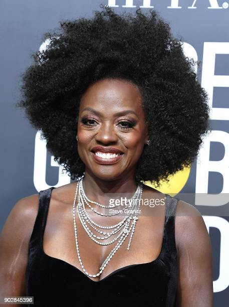 Viola Davis arrives at the 75th Annual Golden Globe Awards at The Beverly Hilton Hotel on January 7 2018 in Beverly Hills California