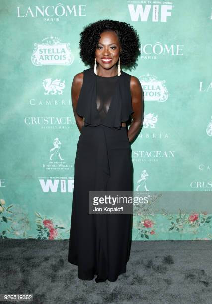 Viola Davis attends the 11th annual celebration of the 2018 female Oscar nominees presented by Women in Film at Crustacean on March 2 2018 in Beverly...