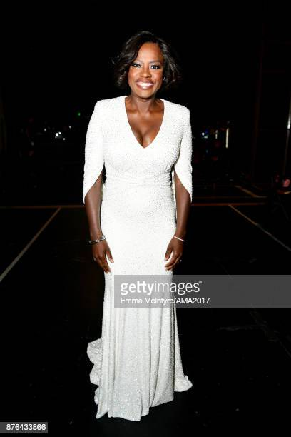 Viola Davis attends the 2017 American Music Awards at Microsoft Theater on November 19 2017 in Los Angeles California