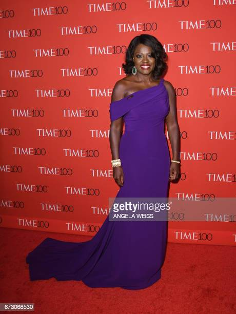 Viola Davis attends the 2017 Time 100 Gala at Jazz at Lincoln Center on April 25 2017 in New York City / AFP PHOTO / ANGELA WEISS