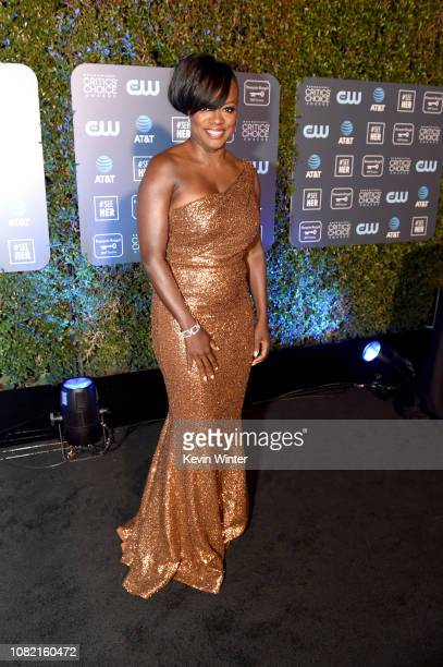 Viola Davis attends the 24th annual Critics' Choice Awards at Barker Hangar on January 13 2019 in Santa Monica California