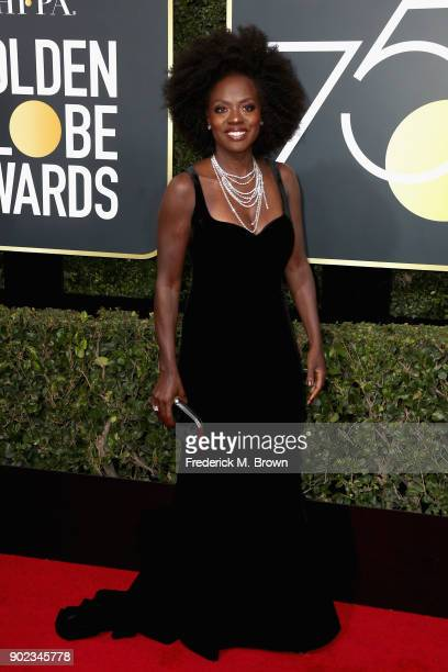 Viola Davis attends The 75th Annual Golden Globe Awards at The Beverly Hilton Hotel on January 7 2018 in Beverly Hills California