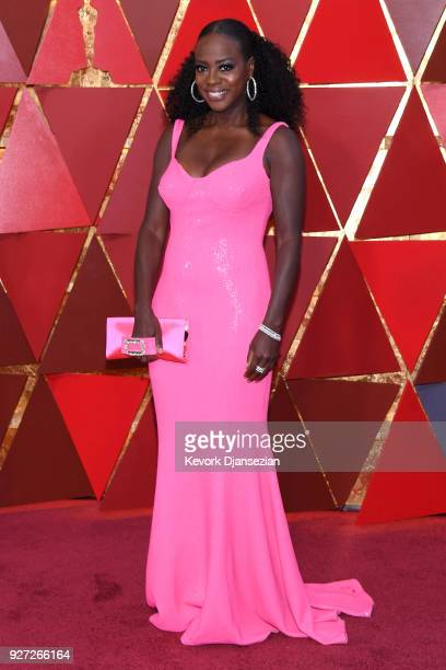 Viola Davis attends the 90th Annual Academy Awards at Hollywood Highland Center on March 4 2018 in Hollywood California