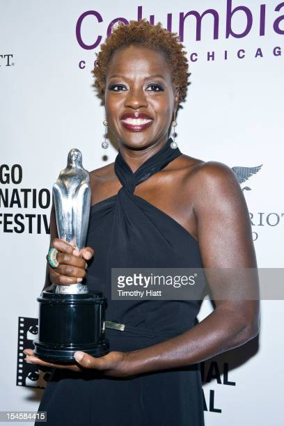 Viola Davis attends the Black Perspectives Award during the 48th Chicago International Film Festival at the AMC River East 21 movie theater on...