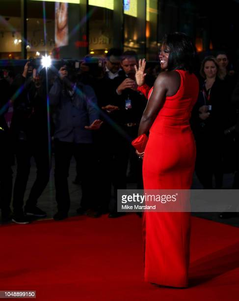 """Viola Davis attends the European Premiere of """"Widows"""" and opening night gala of the 62nd BFI London Film Festival on October 10, 2018 in London,..."""