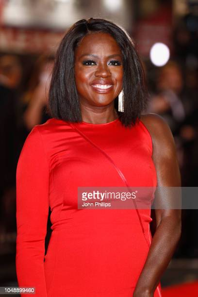 Viola Davis attends the European Premiere of Widows and opening night gala of the 62nd BFI London Film Festival on October 10 2018 in London England