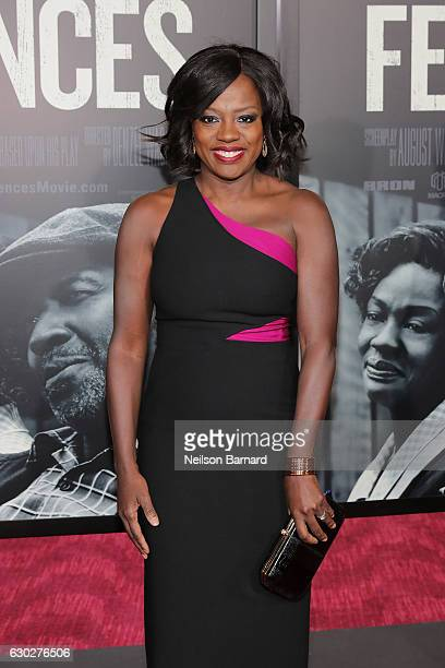 Viola Davis attends the New York Special Screening of the Paramount Pictures title 'FENCES' at Rose Theater Jazz at Lincoln Center on December 19...