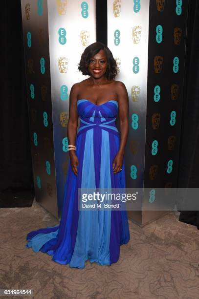 Viola Davis attends the official after party dinner for the EE British Academy Film Awards at Grosvenor House on February 12, 2017 in London, England.