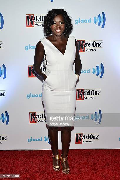 Viola Davis attends VIP Red Carpet Suite Hosted by Ketel One Vodka at 26th Annual GLAAD Media Awards at the Beverly Hilton on March 21 2015 in Los...