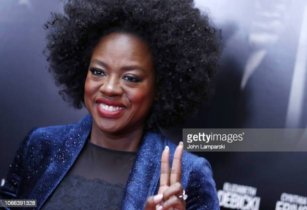 Viola Davis attends Widows New York Special Screening at Brooklyn Academy of Music on November 11 2018 in New York City
