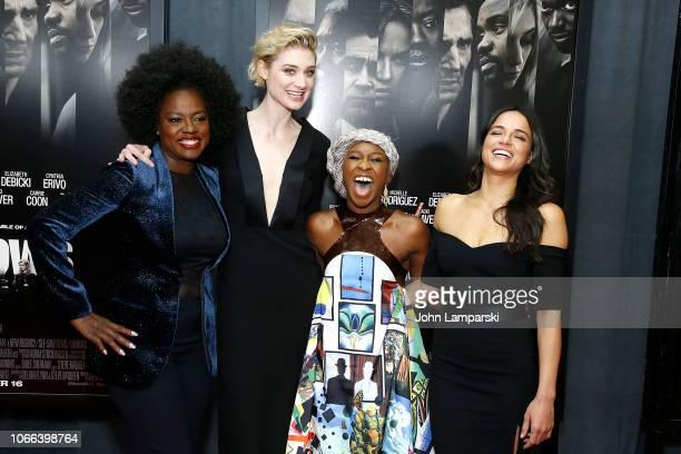 Viola Davis Elizabeth Debicki Cynthia Erivo and Michelle Rodriguez attend Widows New York Special Screening at Brooklyn Academy of Music on November...