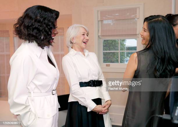 Viola Davis, Helen Mirren and Lisa Ling join LOréal Paris to celebrate the launch of Age Perfect Cosmetics on March 03, 2020 in Beverly Hills,...