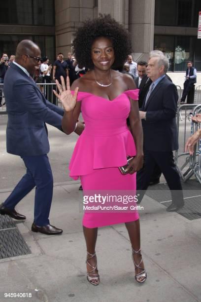 Viola Davis is seen on April 13 2018 in New York City