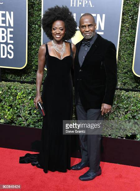 Viola Davis Julius Tennon metoo arrives at the 75th Annual Golden Globe Awards at The Beverly Hilton Hotel on January 7 2018 in Beverly Hills...