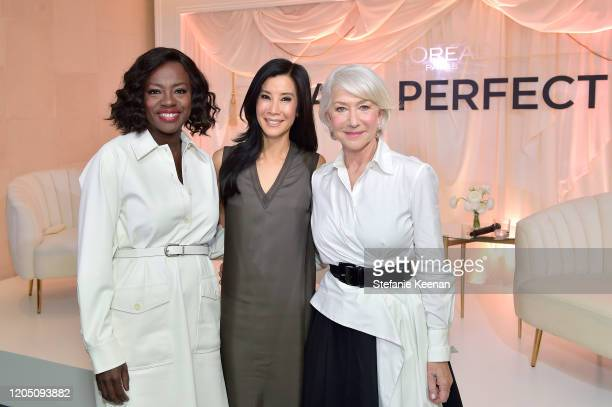 Viola Davis, Lisa Ling and Helen Mirren join LOréal Paris to celebrate the launch of Age Perfect Cosmetics on March 03, 2020 in Beverly Hills,...
