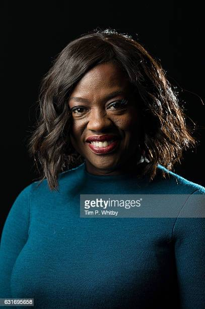 Viola Davis poses for a photo prior to attending a qa at a preview screening of 'Fences' of at BFI Southbank on January 14 2017 in London England