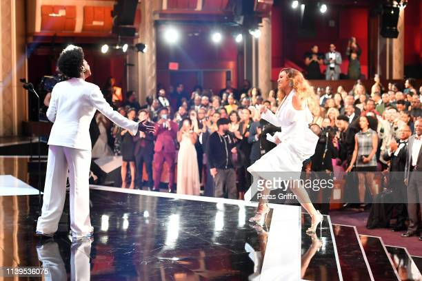 Viola Davis presents the award for Entertainer of the Year to Beyoncé onstage at the 50th NAACP Image Awards at Dolby Theatre on March 30 2019 in...