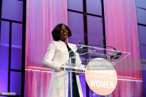 Viola Davis speaks at the Texas Conference For Women 2017 at Austin Convention Center on November 2 2017 in Austin Texas