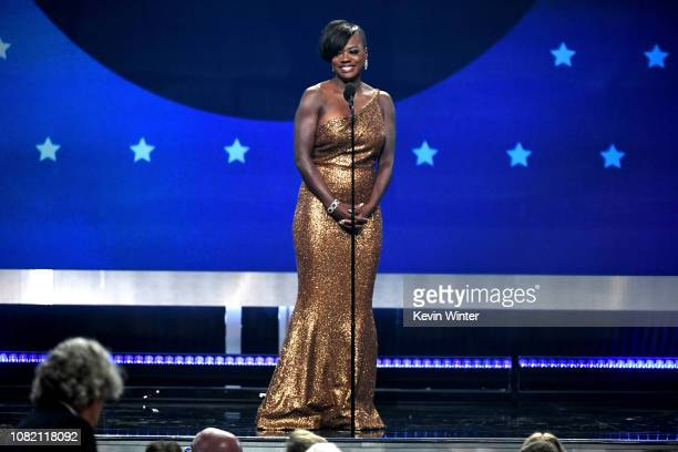 Viola Davis speaks onstage during the 24th annual Critics' Choice Awards at Barker Hangar on January 13 2019 in Santa Monica California