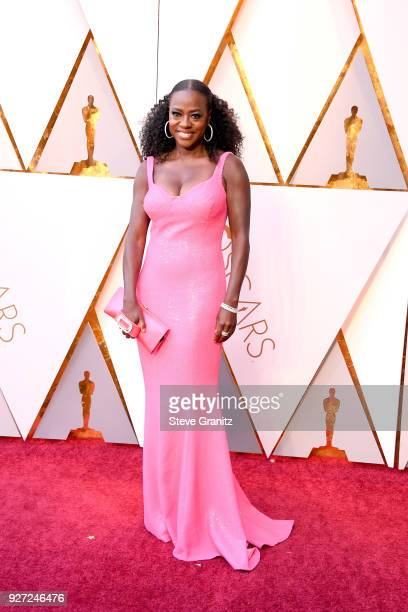 Viola Davis wearing Michael Kors attends the 90th Annual Academy Awards at Hollywood Highland Center on March 4 2018 in Hollywood California