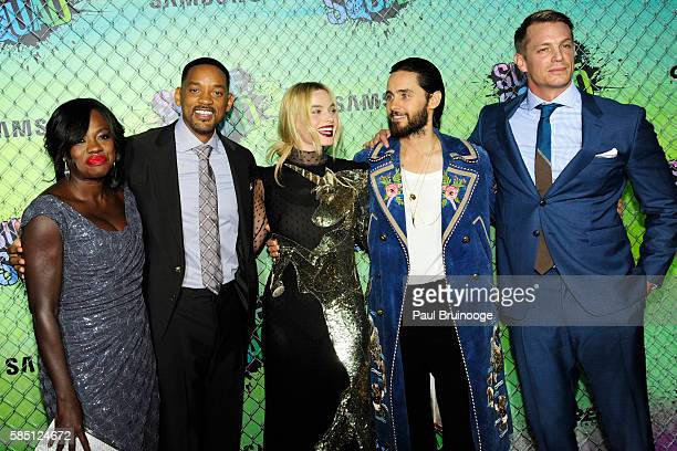 Viola Davis Will Smith Margot Robbie Jared Leto and Joel Kinnaman attend The World Premiere of Warner Bros Pictures and Atlas Entertainment's...