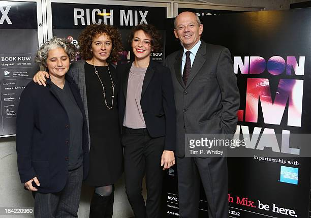 "Viola Presteri, Jasmine Trinca, Valeria Golino and Carlo Brancaleoni attend a screening of ""Honey"" during the 57th BFI London Film Festival at Rich..."