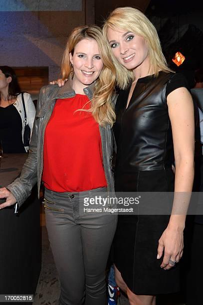 Viola Weiss and Britta Hofmann attend Porsche Design Sport Mountain Loft at University of Television and Film Munich on June 6 2013 in Munich Germany